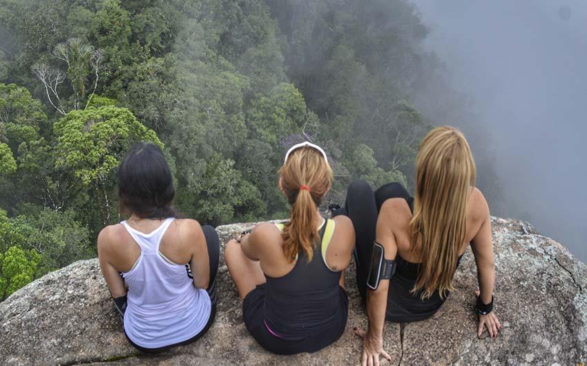 Randonnée en groupe dans la forêt de Tijuca
